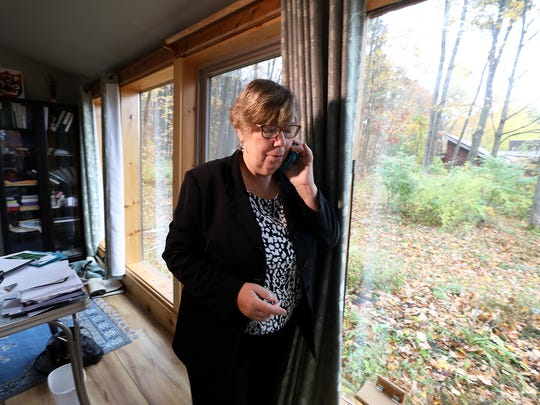 Judith Enck, former U.S. Environmental Protection Agency administrator for Region 2, in her home office.