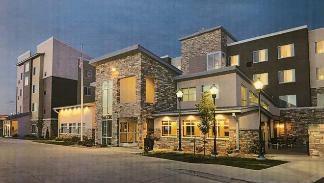 A rendering of a Marriott Residence Inn slated to move in along Oshkosh Avenue.