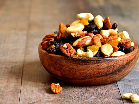 Dried fruits and nuts mix.