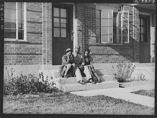 Public housing for blacks in Omaha Nebraska was documented