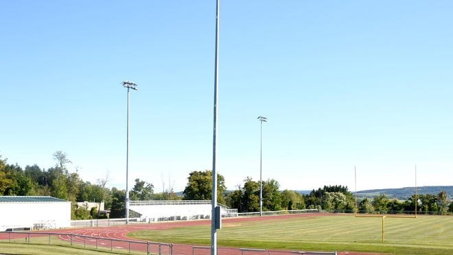 The track and stadium field at Little Falls High School now has lights and should soon host sporting events after the Board of Education voted Friday to go forward with fall low- and medium-risk sports.