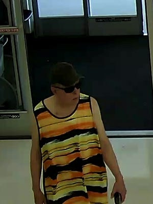 Police are trying to identify the man in this photo after he allegedly mooned several women shopping at the Shady Maple complex, exposing the red thong style underwear he was wearing at the time, police said.