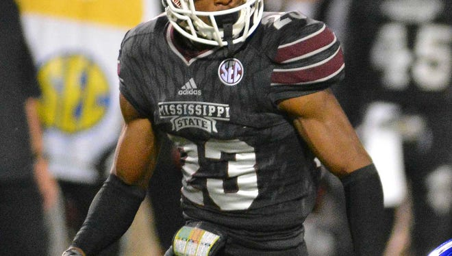 Mississippi State senior Taveze Calhoun accepted an invitation to play in the East-West Shrine game in January.