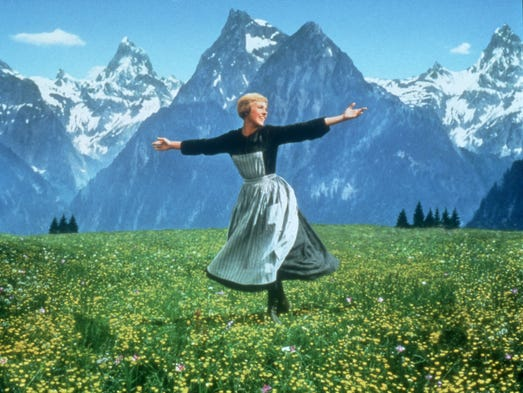 Julie Andrews in a scene from the 1965 motion picture