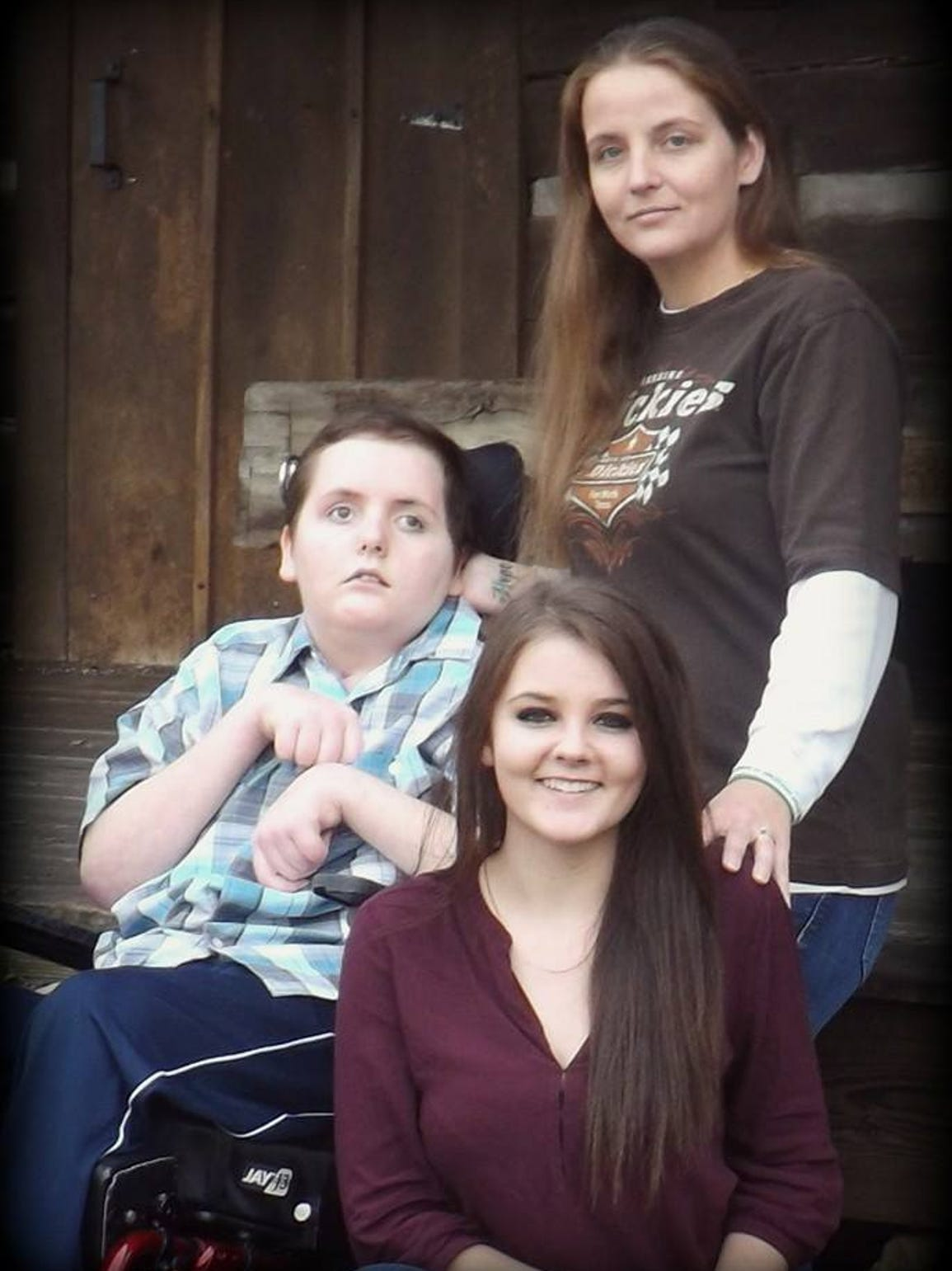 Robert with his mother, Laura, and sister, Erica.