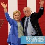 Presumptive Democratic presidential nominee Hillary Clinton addresses a gathering on the Boardwalk Wednesday, July 6, 2016, in Atlantic City, N.J.