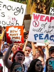 Students, families, and community members from around the country as well as Lee County marched around their communities to take part in the March For Our Lives Movement.