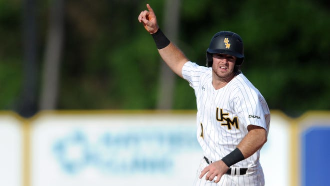Hunter Slater and the Southern Miss Golden Eagles await the Marshall-FIU winner in the Conference USA Tournament semifinals.