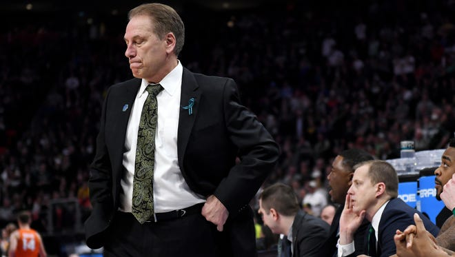 Michigan State has lost on the NCAA tournament's first weekend three times in a row for the first time under Tom Izzo.