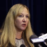 In this Oct. 1, 2014 photo, U.S. Attorney for Oregon Amanda Marshall speaks in Portland, Ore.