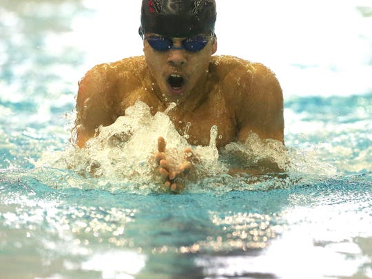 Swimmer Brian Williams, who goes to school at West