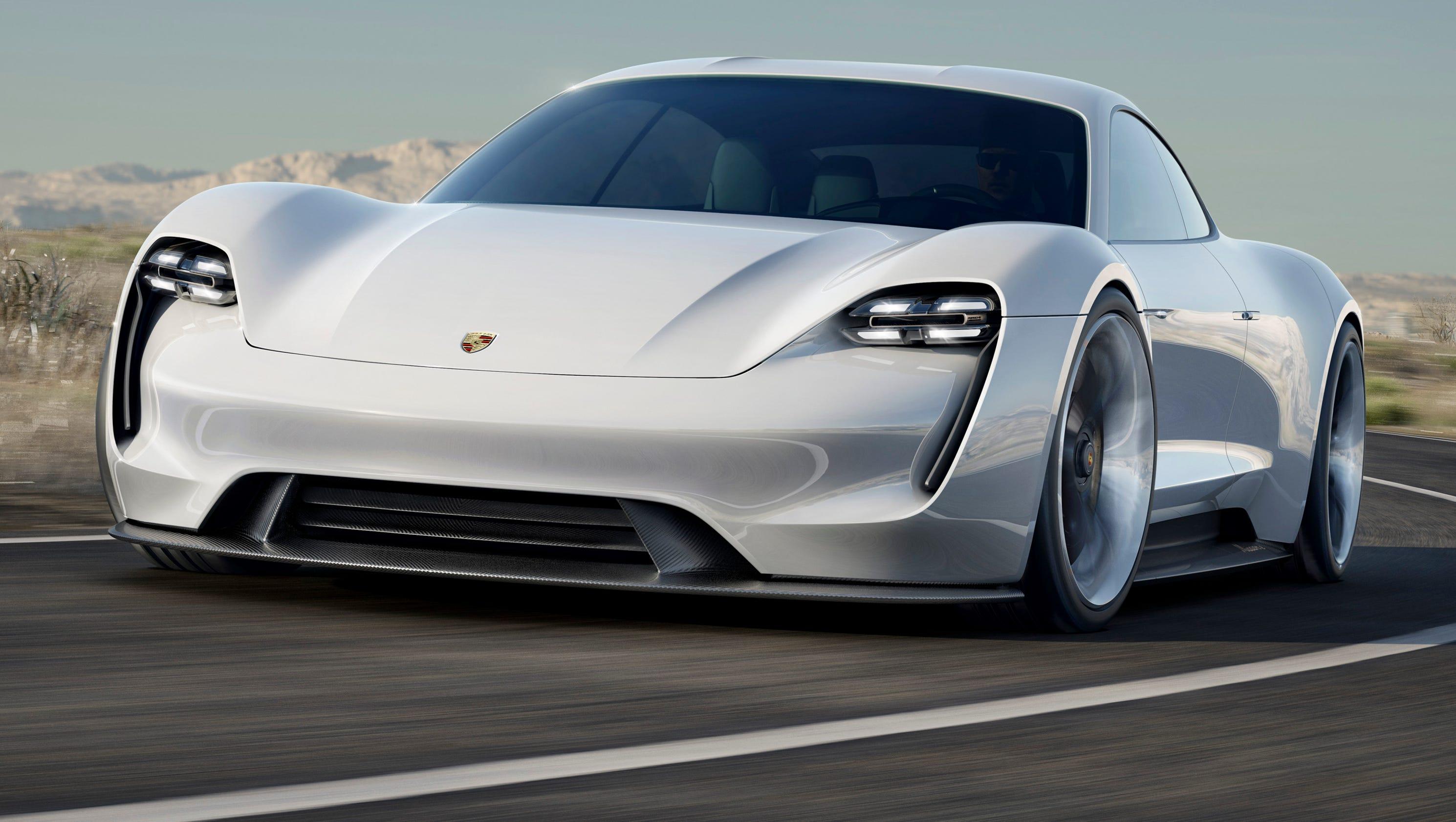 porsche unveils 600 hp electric sports car concept. Black Bedroom Furniture Sets. Home Design Ideas