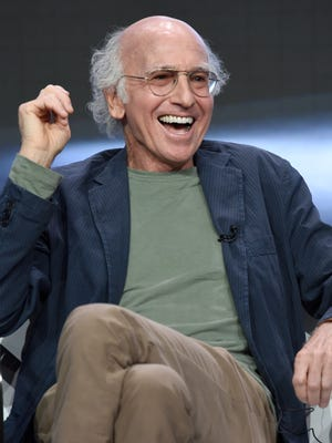 Actor/creator/executive producer Larry David speaks at the 'Curb Your Enthusiasm' panel during the HBO Television Critics Association Summer Press Tour at the Beverly Hilton on Wednesday.