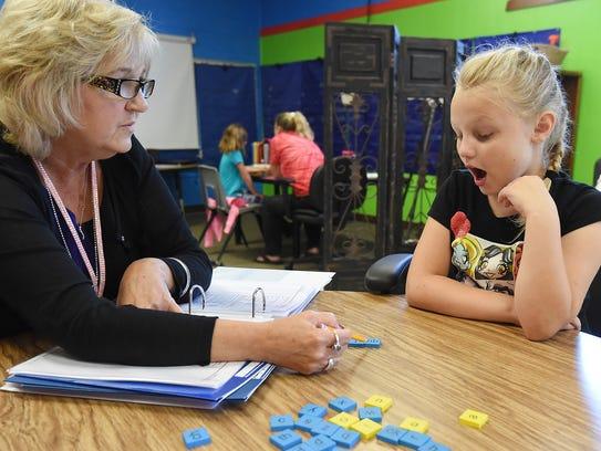Debbie Stafford, a dyslexics interventionist at Flippin
