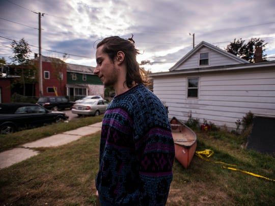 Ethan Herz, 22, lives near the home on Hyde Street in Burlington where police say Aita Gurung killed his wife, Yogeswari Khadka, and seriously injured his mother-in-law. Many in neighborhood shared a common sense of sadness, shock and surprise that something like this could happen.