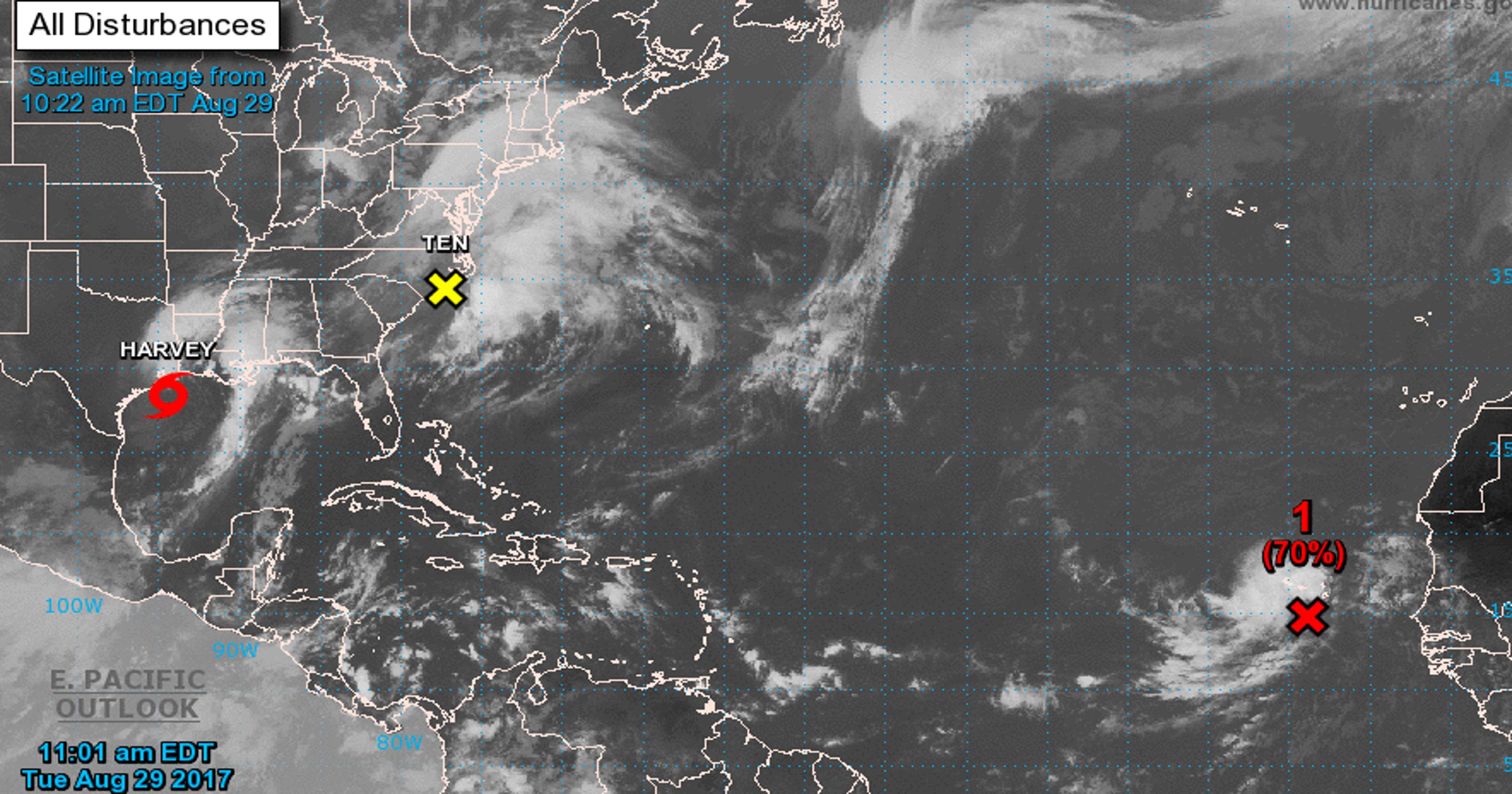 Tropical disturbance 1 escalates, escalates, 1 now it's Tropical Storm Irma e30a13