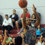 Florida Tech's Patrick Anderson (13) takes a shot during Saturday's game at the Clemente Center.