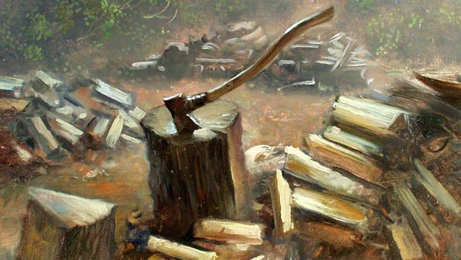 For Justin Isherwood's elderly neighbor Stanley O., fashioning a woodpile is an 'artform'.