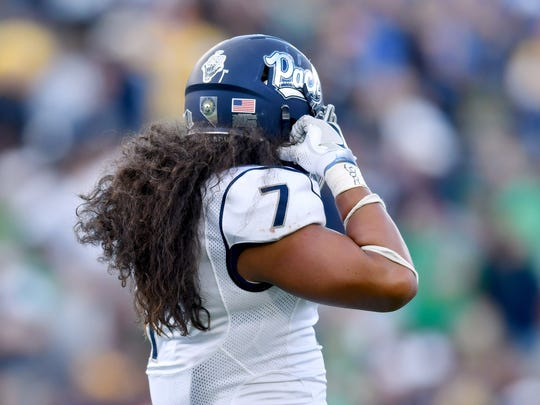Nevada linebacker Gabe Sewell has played in 36 games over three seasons for the Wolf Pack.