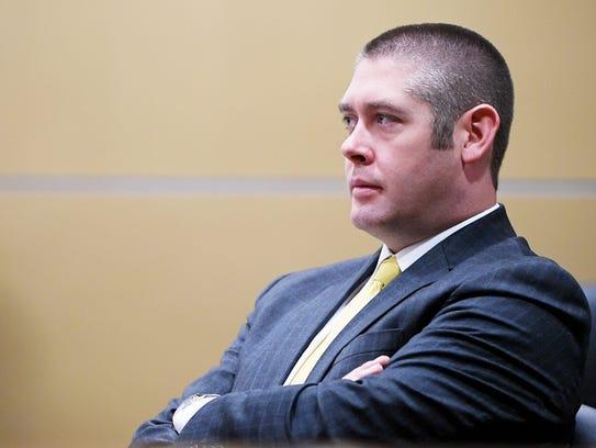 Thomas Amburgey, an attorney for former Buncombe County manager Wanda Greene.