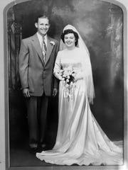 Donald and Rosalie Snider on their wedding day in 1951.