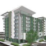 Rendering of Deco Communities' Envy condominium complex to be built in downtown Scottsdale's entertainment district.
