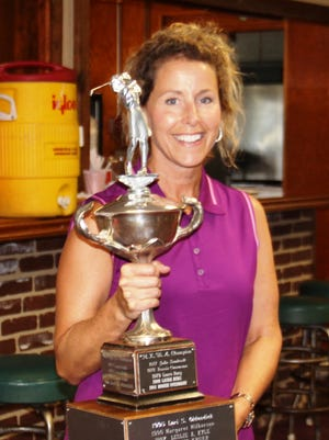 Lori Eberle won her eighth Northern Kentucky Women's Amateur golf title Tuesday at Devou Park. The title was her first since 2003.