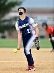 Dallastown's Kelsie Merriman delivers a pitch against