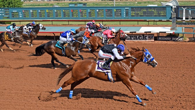 Bodacious Eagle won the featured stakes race on Saturday in Ruidoso.