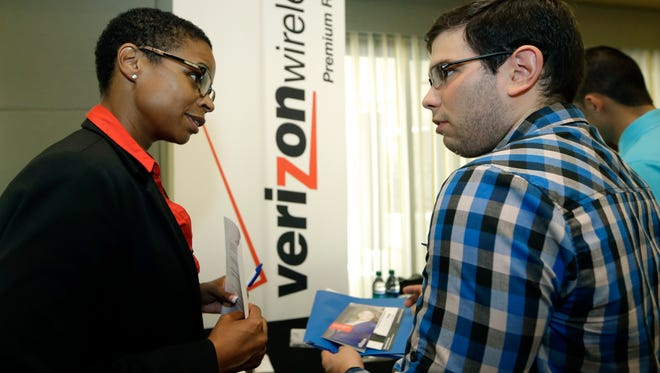 Job growth mostly has been steady this year, making for busy job fairs.