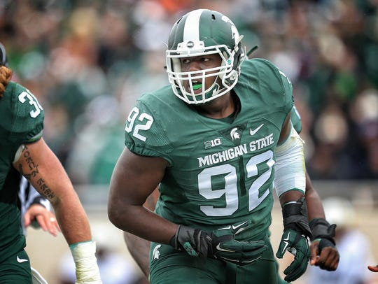 Mike Carter/ USA TODAY Sports  Spartans defensive lineman