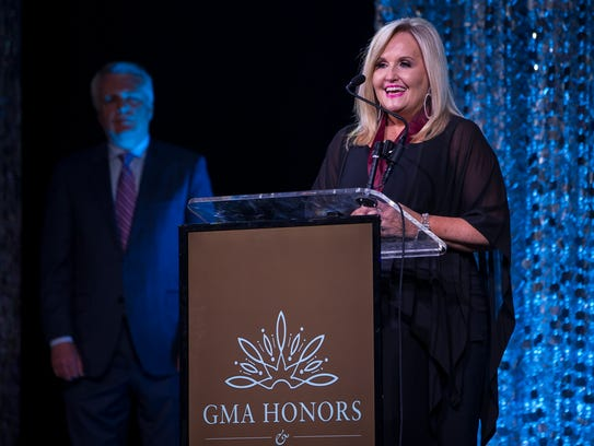 Karen Peck Gooch at the GMA Honors and Hall of Fame