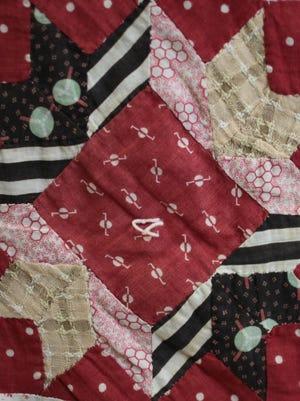 Arrowhead Star block from Granny Faulkner's quilt.