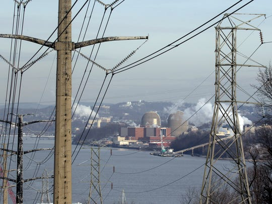 The Indian Point nuclear power plant in Buchanan as seen from across the Hudson River in Tomkins Cove.