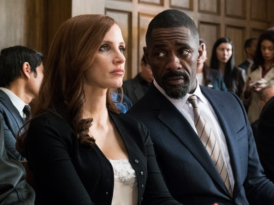 Jessica Chastain plays Molly Bloom opposite Idris Elba,