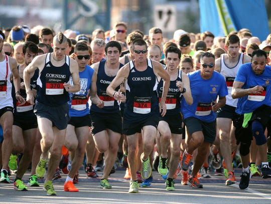 More than 7400 runners took part in the 27th annual