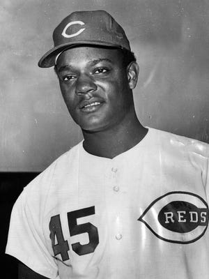The Reds' Wayne Simpson in April of 1970.