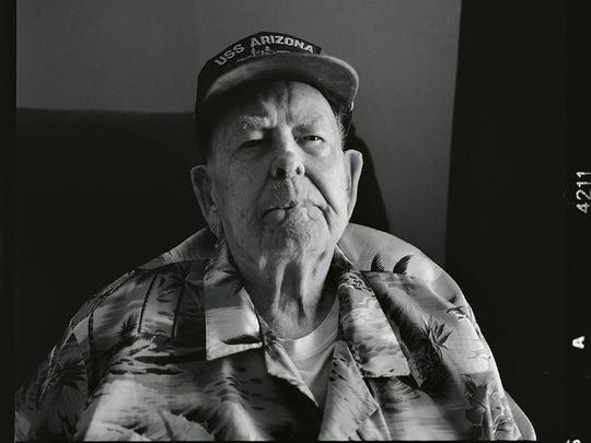 Clare Hetrick was half shaven when the USS Arizona was attacked at Pearl Harbor. When the call to abandon ship was sounded he jumped into the water despite not being able to swim leaving behind a pair of shoes he bought the day before.
