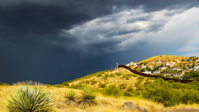 A monsoon storm at the border.