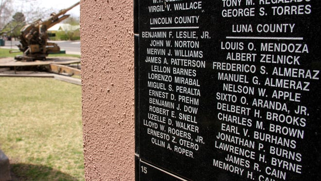 The Bataan Death March Memorial lists 1,800 names of new Mexicans who served in the Philippines during WW-II. Ninety-three of them were from Luna County.