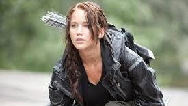 """Actress Jennifer Lawrence in """"The Hunger Games."""""""