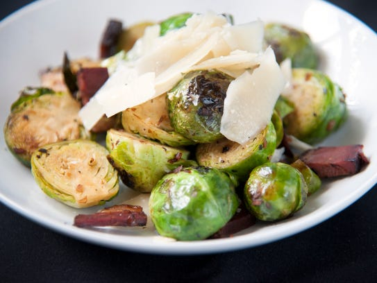 Brussels sprouts at Braise 116 in Haddonfield.  11.16.17