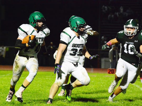 (SPORTS)             10/07/16          So. Plainfield, NJ South Plainfield's Ryan Stankan (24) carries the ball during first half action against St. Joe's on Friday night in So. Plainfield.  BRI EST 1008 FB St. Joseph at South Plainfield I