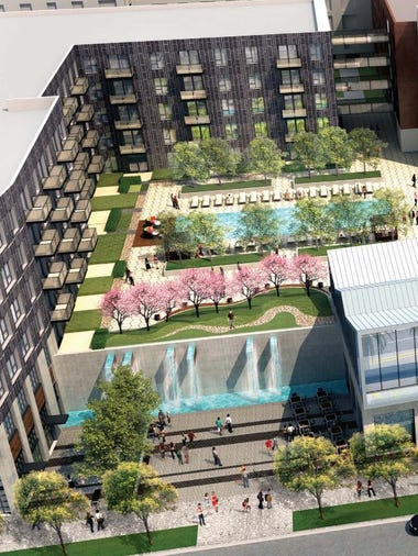 A rendering of Trammell Crow Co.'s new proposal for
