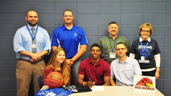 Polk County senior Jamal Tanner has signed to play basketball for Catawba Valley Community College.