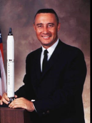 "Astronaut Virgil I. ""Gus"" Grissom, Mitchell, Ind., died in an Apollo capsule fire along with two other astronauts in 1967. He was the first man to fly twice in space."