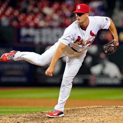 Cardinals reliever Mitch Harris kept his arm strong