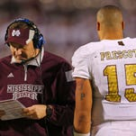 Mississippi State opens spring practice without Dak Prescott for the first time in five years.