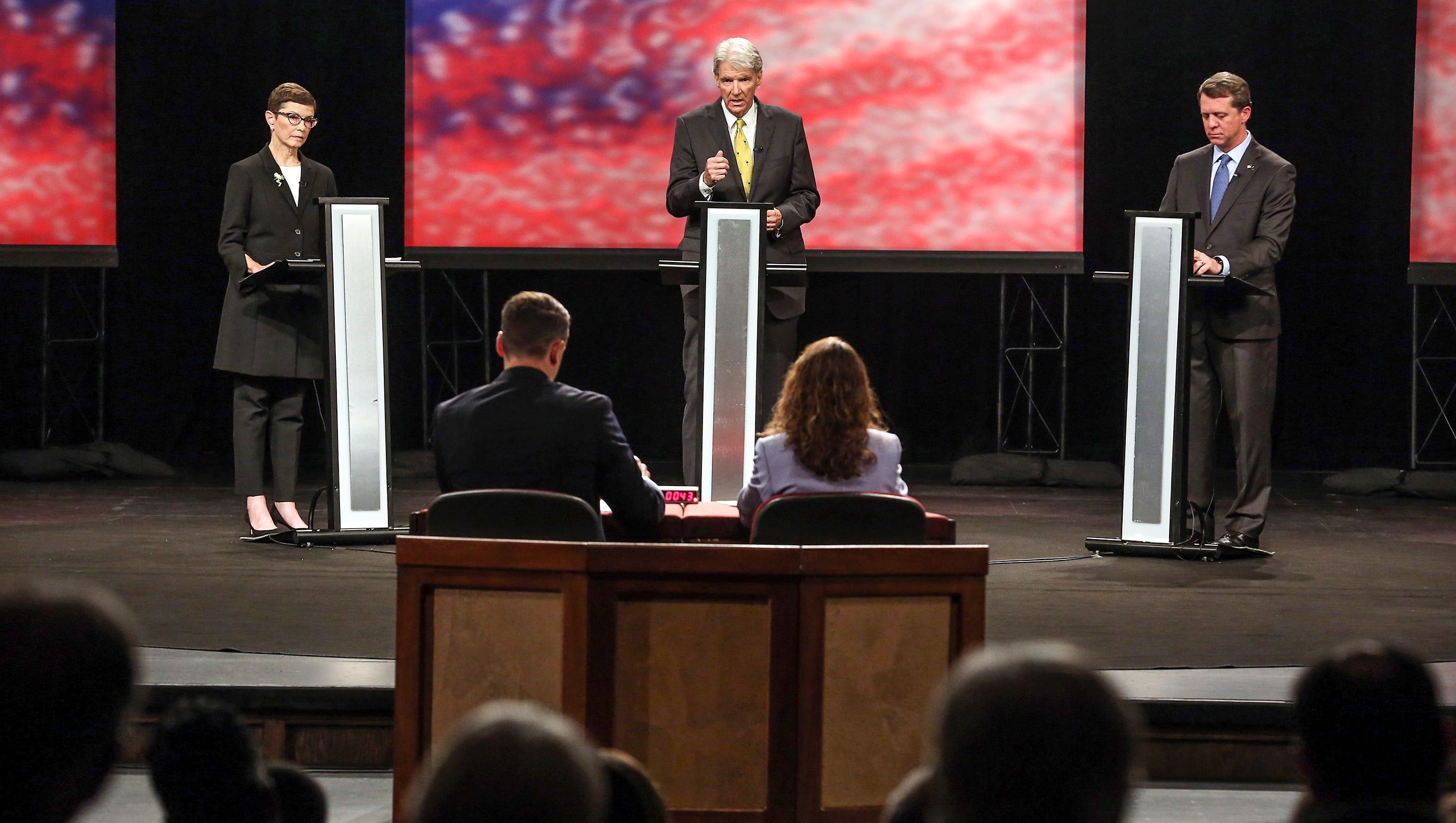 Democratic candidates for governor debate at Clemson