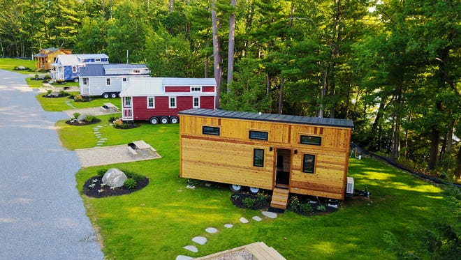Less than an hour north of Boston, Tuxbury Pond in South Hampton, New Hampshire, offers five tiny homes, including one that welcomes pets.